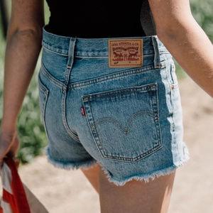 Levi's 501 Denim Cutoff Shorts High Rise